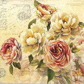 Салфетки для декупажа Paper+Design Розы Винтаж, 33x33см, 20шт 200258