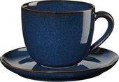 Чашка с блюдцем Asa Selection Saisons для капучино, 230мл, синий 27130/119