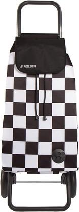 Сумка-тележка Rolser F-Tres, 2 колеса, складная, чёрно-белая PAC076blanco/negro