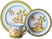 Набор детской посуды Top Art Studio Весёлые мартышки, 3пр. SC1063-TA