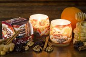 Свеча Зимние Фрукты, стакан 8x7.5см Bartek Candles 5901685000659