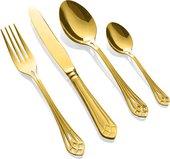 Набор столовых приборов Herdmar Vitral Gold, 24 предмета, золото 186302401172000017