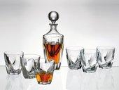 Набор для виски Crystalite Bohemia Barley Twist, графин 750мл, 6 стаканов 320мл 99999/9/99V75/375