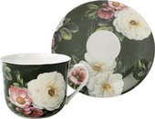 Чайная пара для завтрака 400мл Дамасские розы Creative Tops 5187372