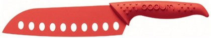 """Нож """"Сантоку"""" с лезвием 17см, красный, 11228-294"""