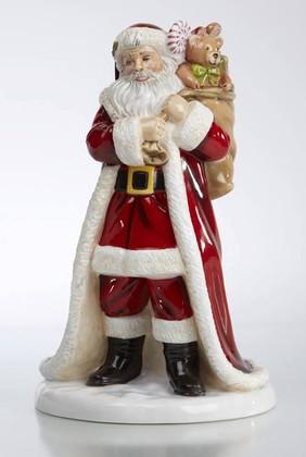 Статуэтка Дед Мороз, фарфор, 24см English Ladies ELGELS03101