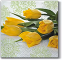 Салфетки для декупажа Paw Желтые тюльпаны, 33x33см, 20шт SDL290000