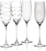 Фужер для шампанского KitchenCraft Mikasa 250мл, набор 4шт, хрустальное стекло 5159318