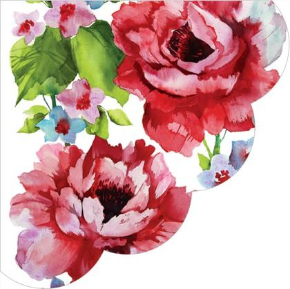 Салфетки Акварельные розы, круглые d32см, 12шт Paw SDR847000