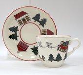 Чайная пара Masons Рождественская деревенька, 160мл 56533404005