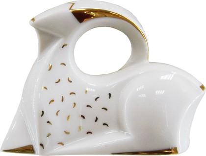 Статуэтка ИФЗ Золотая коза, 10см, фарфор 82.50489.00.1
