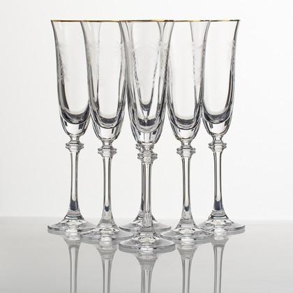 Бокалы для шампанского Crystalite Bohemia Александра, 6шт., 190мл 1SD70/190/437640K