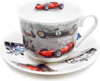 """Чайная пара """"Гоночные машины"""", 500мл Roy Kirkham XRAC1100"""