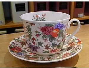Чайная пара для завтрака Фрукты и Цветы 500мл Roy Kirkham XFRU1100