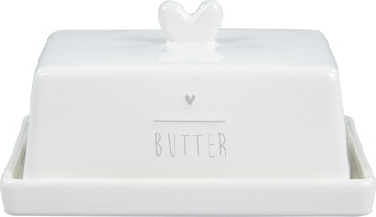 Маслёнка Bastion Collections White Нeart Grey LI/BUTTER HE 001GR