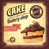 Салфетки Шоколадный кекс, 33x33см, 20шт Paper+Design 200281