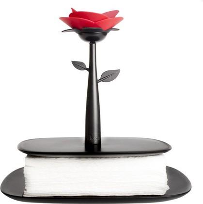 Подставка для салфеток чёрная Vigar Rose 5329