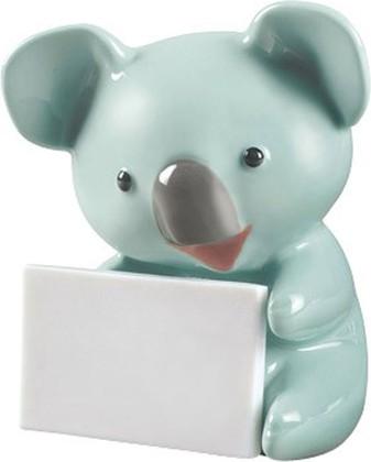 Статуэтка Коала с сообщением (Koala with message), бирюзовый, фарфор NAO 02001899