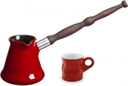 Керамическая турка 0.35л и чашка, набор 2пр, красный Ceraflame IBRIKS J72016