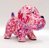 Копилка Pomme-Pidou Собачка, мини, розовый 13.5x8.5x10см 148-00249/B