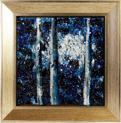 Картина стеклянная Поэзия ночи 30x30см Top Art Studio LG1234-TA