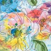 Салфетки для декупажа Paper+Design ланч Акварель цветов, 33x33см, 20шт 200260