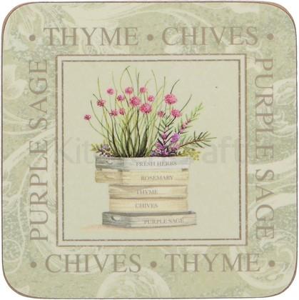 Подставки под чашку Creative Tops Topiary 10.5x10.5, 6шт, пробка 5169659
