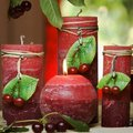 "Bartek Candles FRUITS RUSTIC Свеча ""Спелые фрукты"" - образ коллекции E, блок 70х70х90мм, артикул 5907602647877"