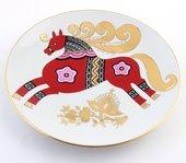 Тарелка декоративная ИФЗ Эллипс, Красный конь 80.58700.00.1