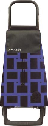 Сумка-тележка Rolser Geometrik Joy-1800, чёрно-синяя, 2 колеса BAB028azul