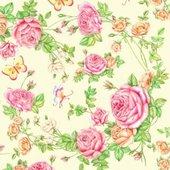 Салфетки коктейль, 3-слоя, Садовые розы, 25x25см, 20шт Paw SDC340000