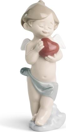 Статуэтка фарфоровая Маленькое Влюблённое Сердце (A Little Heart of Love) 14см NAO 02001541