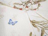 Скатерть Белорусский лён Полевые цветы, круглая d144, 6 салфеток 33x33 15c429/d144/57/1