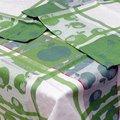 Скатерть Белорусский лён Яблочная 150x150см, 6 салфеток 48x48см, зелёная 12c520/150x150/218/1