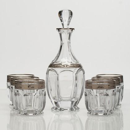 Набор для виски Сафари графин 800мл + 6ст 250мл Crystalite Bohemia 99999/9/378500/068