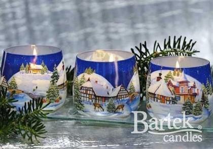 "Свеча Новогодняя ""Зимний пейзаж 2"" стакан 8х7cм Bartek Candles 152062"
