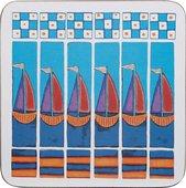 Набор подставок под кружки Queens Паруса, пробка, 10x10см, 4шт DEEH00111