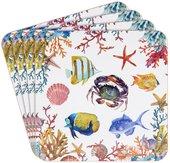Подставки под стакан Lesser & Pavey Морская жизнь 4шт 11x11см LP93857