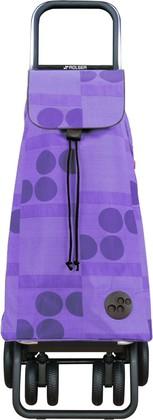 Сумка-тележка Rolser Logos, поворотные колёса, складная, фиолетовая PAC042malva