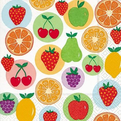 Салфетки для декупажа Летние фрукты, 33x33см, 3 слоя, 20шт Paper+Design 21876