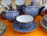 Сервиз чайный ИФЗ Тюльпан, Кобальтовая сетка, 14 предметов 81.20942.00.1