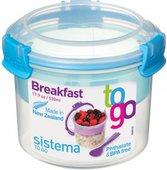 Контейнер для продуктов Sistema To Go, 530мл, круглый, двухуровневый, с ложкой 21355