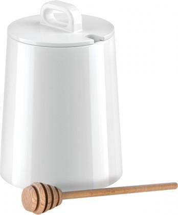 Ёмкость для мёда Tescoma Gustito с разливной ложкой, фарфор, 600мл 386470.00