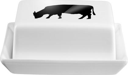 Маслёнка с декором Asa Selection Корова, 16.5x13.5см, h7см 47081/147