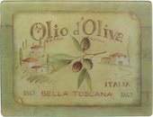 Доска разделочная стеклянная Creative Tops Олио д'Олива 30х40см CT3636