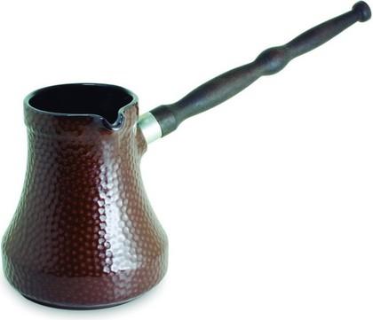 Турка керамическая 0.35л, шоколад Ceraflame Hammered D9415