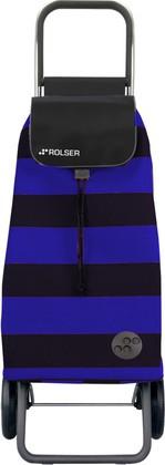 Сумка-тележка хозяйственная сине-чёрная Rolser LOGIC RG PAC013azul/negro