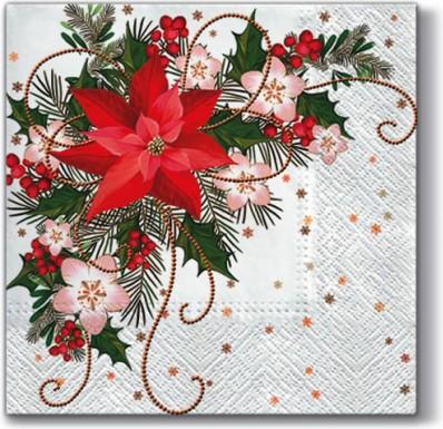 Салфетки Рождественская композиция 33x33, 3-сл, 20шт Paw SDL059500
