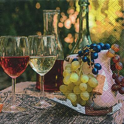 Салфетки коктейль Урожай винограда, 25x25см, 3 слоя, 20шт Paper+Design 12015