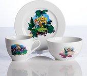 Набор детской посуды Porcelaine Czech Gold Hands Мультики, Енот, 3пр. DSRITA25/3